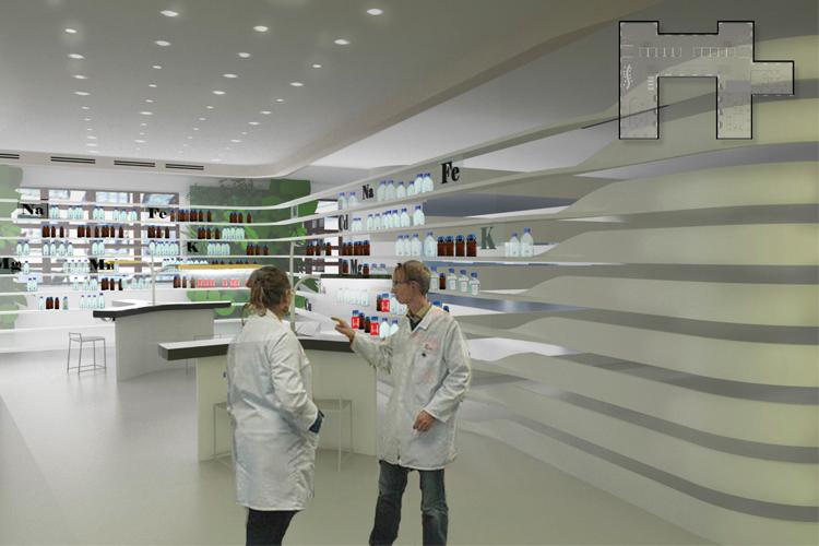 Shu Zhao Interior Gene Therapy Design For A Bioscience Research Institute