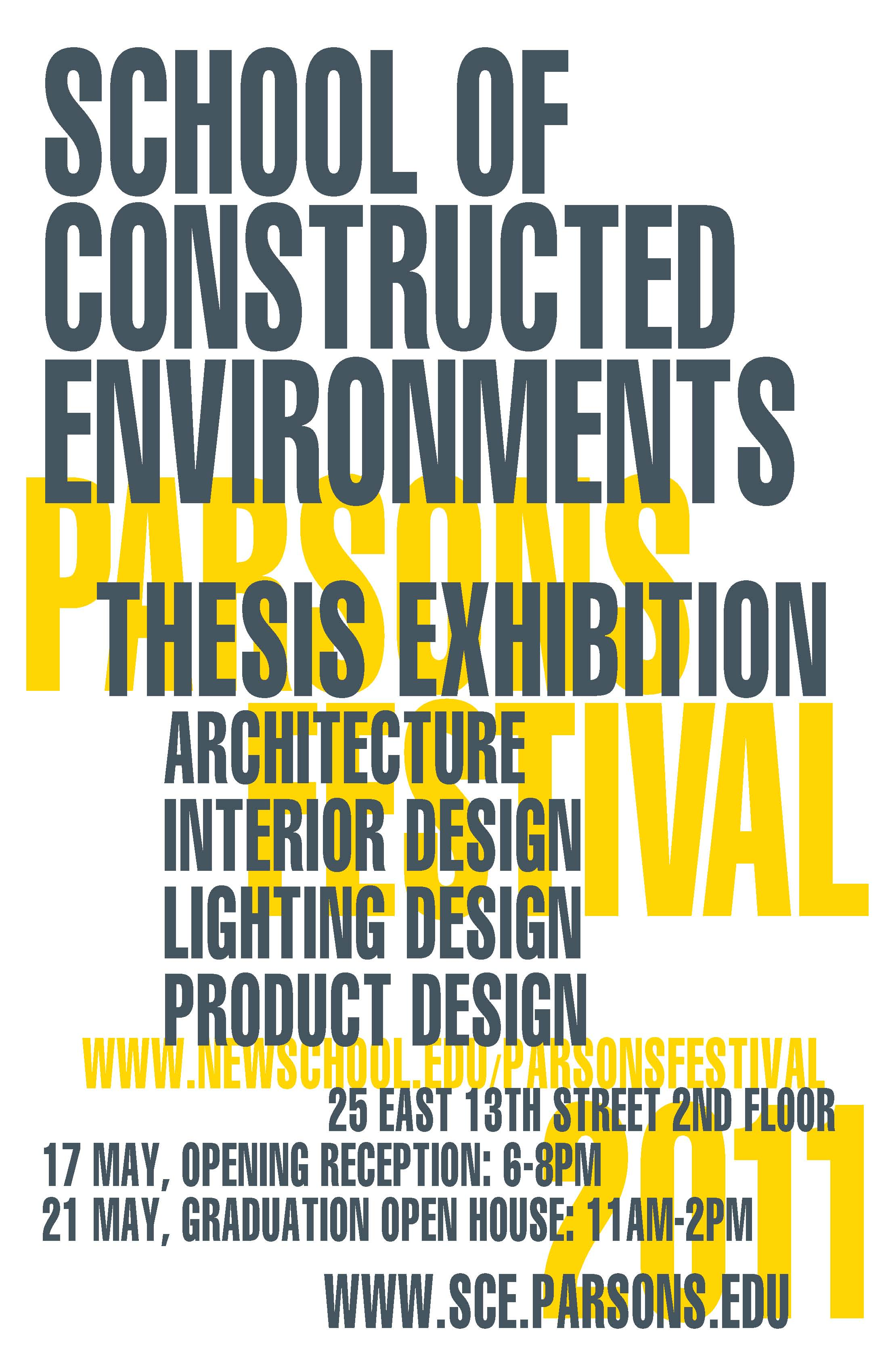 parsons product design thesis show Society of illustrators student scholarship show the illustration program at parsons school of design teaches students to be toy and product design.