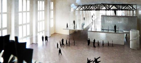 2_Der-roh-belassene-Veranstaltungsraum-der-Kathedrale-mit-Blick-auf-die-Wabenstadt-in-der-Jutierhalle1-700x467