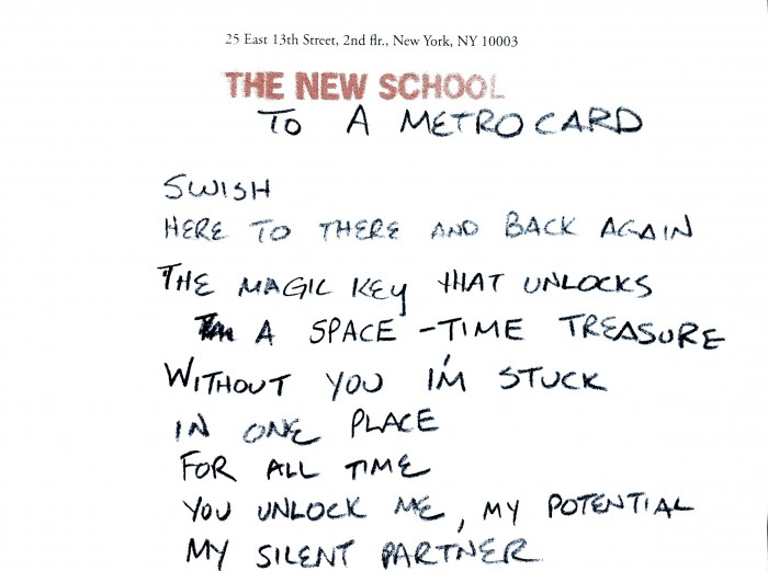 Ode to Metrocard