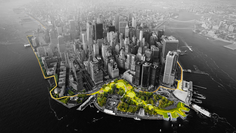 BIG Team's Lower Manhattan Proposal for Rebuild by Design Receives HUD Funding