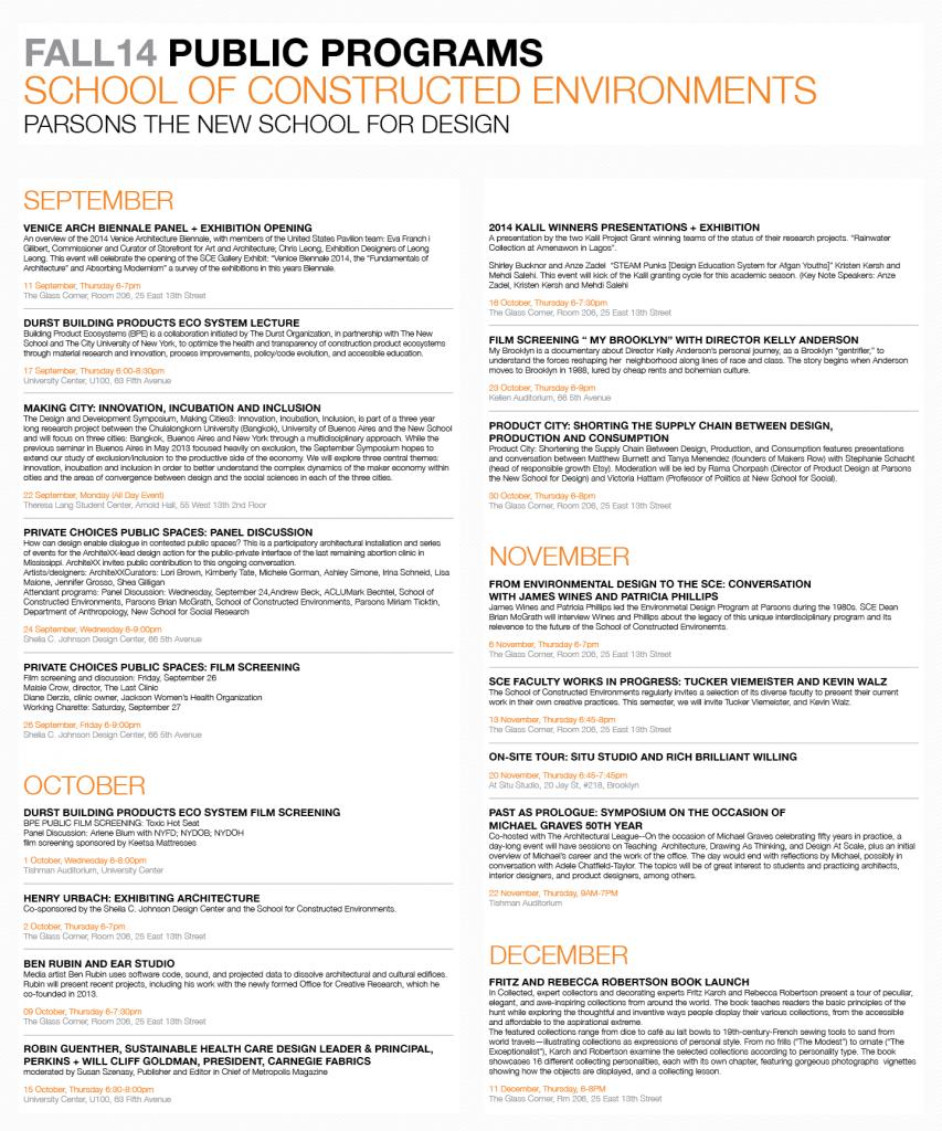 Fall 2014 Public programs poster 20x24