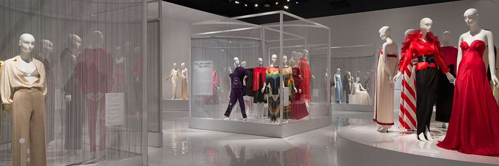 Kimberly Ackert Designs Saint Laurent + Halston Exhibition at FIT
