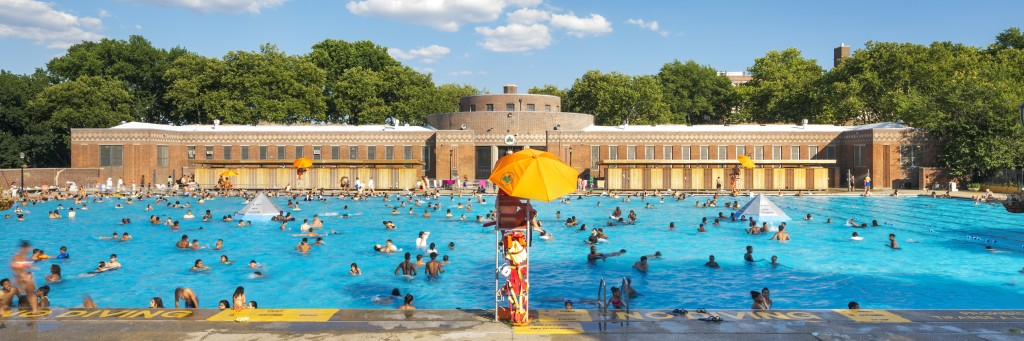 Sunset Park Pool, New Changing and Locker Rooms, Location: Brooklyn NY, Architect: Parsons School of Constructed Environments