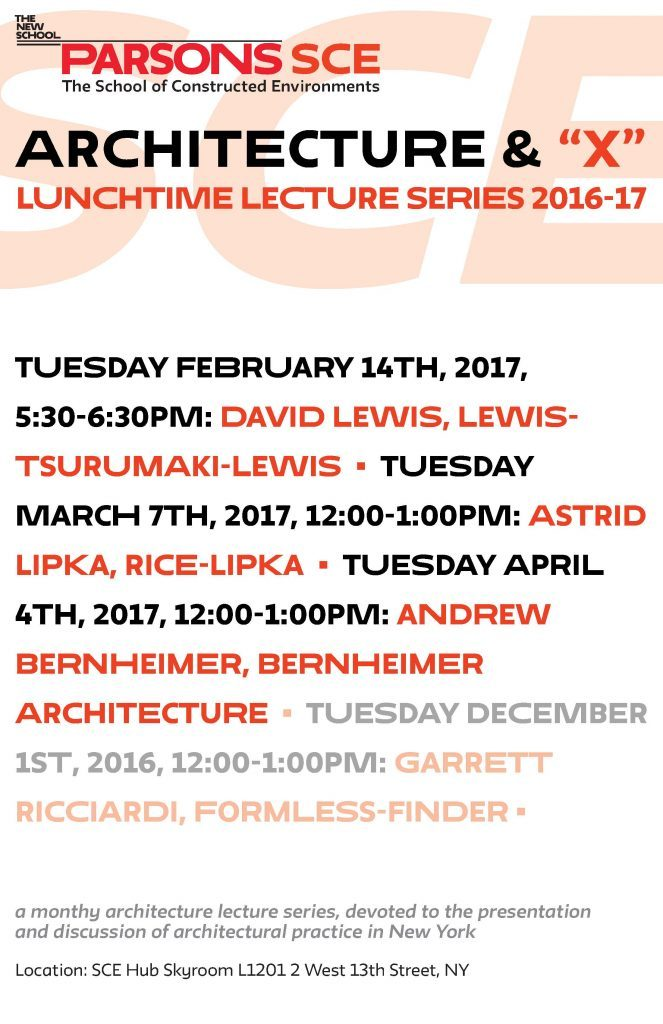 "New lunch time series - Architecture and ""X"""