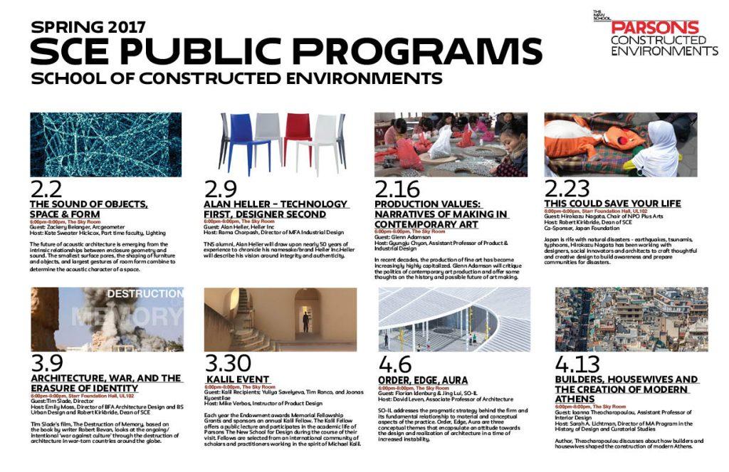Spring 2017 SCE Public Programs