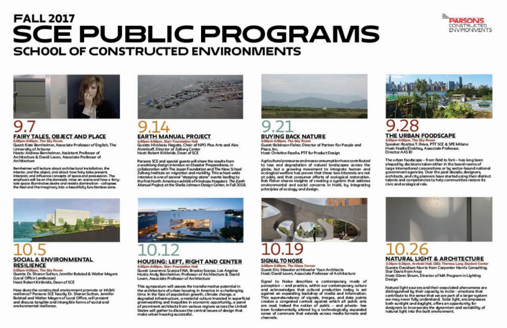 Fall 2017 Public Programs