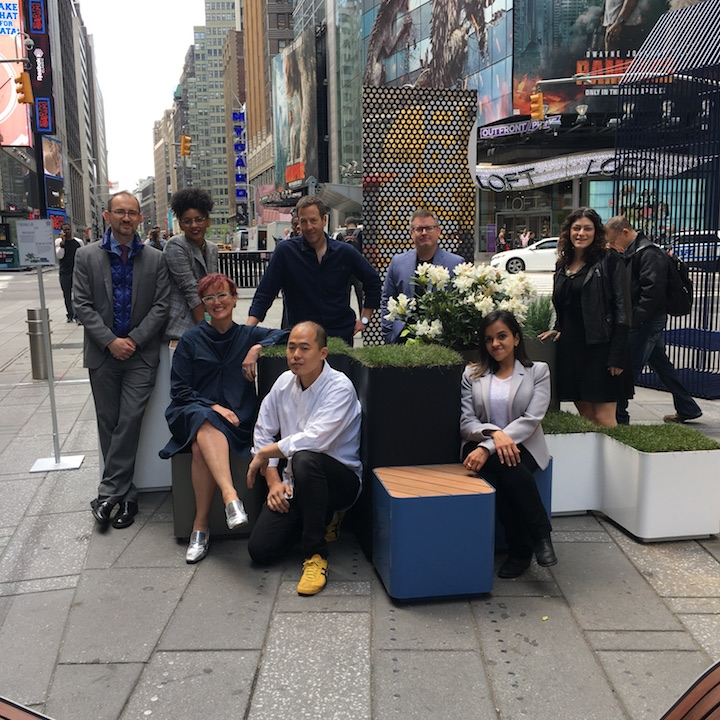 Victoria Milne's firm 6¢ Design produced the inaugural Times Square Design Lab in May