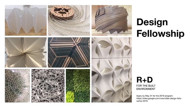 Design Fellowship with R+D for the Built Environment