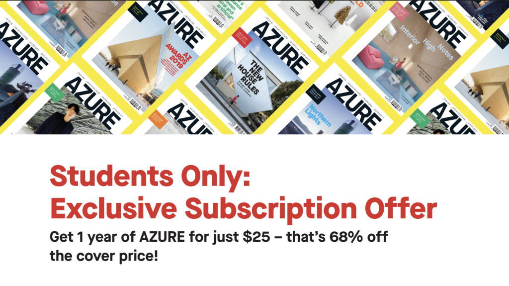 Exclusive offer for Parsons students from AZURE!
