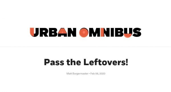 Matt Burgermaster publishes essay on architectural leftovers in Urban Omnibus
